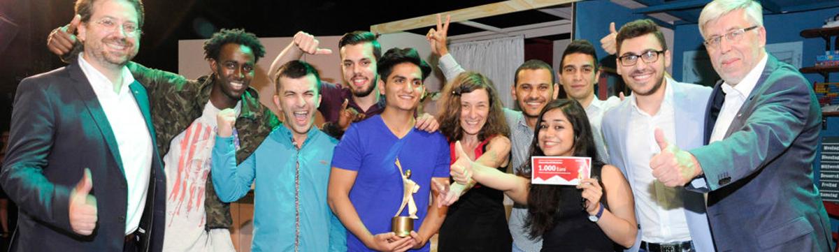 Die Leonardo-Gewinnergruppe 2017 mit den Juroren